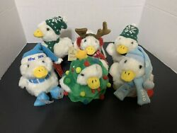 Macy's Aflac Holiday Ducks Plush Talking Limited Editions W/tags Lot Of 6