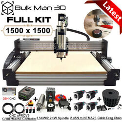 1515 Work-bee Cnc Wood Router Machine Full Kit 4 Axis Precise T8 Leadscrew Drive