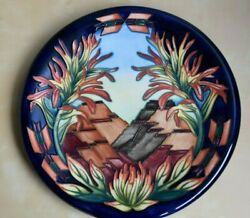 Moorcroft 2000 'indian Paintbrush' 14-in Charger/wall Plaque. First Quality