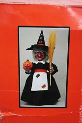 Telco Motion-ettes Style 89003 Witch Halloween Figure 22 Tall In Box