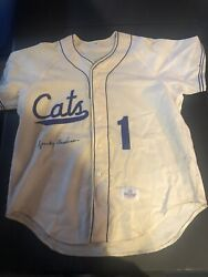 Sparky Anderson Signed Auto Ft. Worth Cats Jersey Ebbets Field Flannels