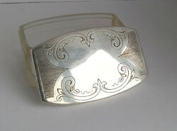 Danish 1910and039s Madsen And T. Baagandoslashes Eftf Silver Plated And Glass Trinket Box