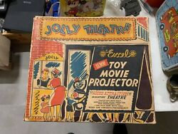 Rare Vintage Mint Original Box Jolly Theatre Excel 16 Mm Projector Our Gang