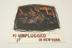 Dave Grohl Pat Smear Signed Autograph Album Vinyl Record - Nirvana Mtv Unplugged