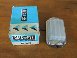 Cats Eye 75-0856 Lamp Switchable Bowtie Glass Lens 4 1/2 By 2 3/4 Nos Wow