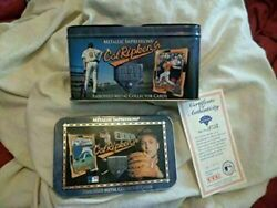 Ed's Variety Store Vintage Sports Fan Baseball Imbossed Metal Collector Cards