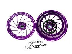 Cbr1000rr 300 Fat Tire Purple Contrast Cut Turbo Wheels 2008-2011 Cbr1000rr