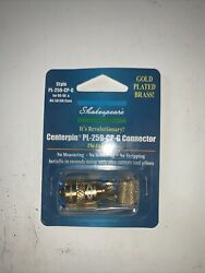 Shakespeare Antennas Pl259cpg Center Pin Connector Gold Plated Brass