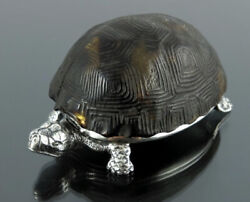 Rare Antique Victorian 1882 Novelty Silver Tortoise Vesta Case By Thomas Johnson