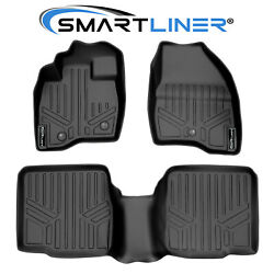 Smartliner Floor Mats For 11-14 Ford Explorer W/o Center Console On 2nd Row