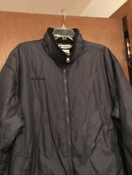 Columbia Winter Jacket Mens Size XL Gray Quilted Coat