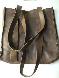 Exclusive Engsonyc, Olive Cow Leather Italian, Vegetable Tanned, Signed Designer