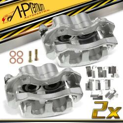 2x Front Left And Right Lh Rh Brake Calipers For Jeep Wj Grand Cherokee 1999-2004
