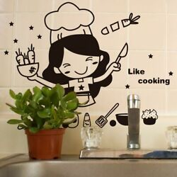 Wall Kitchen Decal Cooking Sticker Dining Food Restaurant Decoration Mural Art