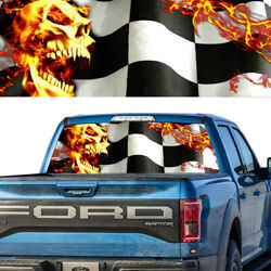 Death Racing Checkered Flag Rear Window Graphic Decal Pick-up Truck Jeep