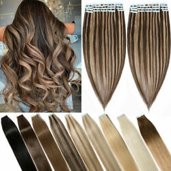 Invisible Skin Wefts Double Side Tape In Remy Brazilian Human Hair Extensions 9a