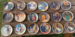 Lot Of 18 Norman Rockwell Decorative Plates