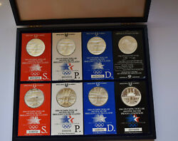Us Olympic Games Los Angeles Proof And Unc Set 1983 1984 Usa Silver Dollar P D S