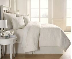 Southern Living Callaway Full Queen Ivory Duvet And 2 Shams