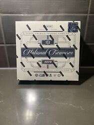 2019 National Treasures Collegiate Football Box Factory Sealed 1st Off The Line
