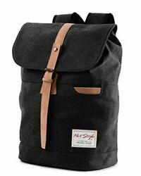 HotStyle 902s Minimalist Canvas College Backpack Travel Rucksack 15.6quot; Laptop $39.99