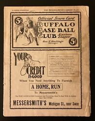 Early 1900and039s Buffalo Bisons Baseball Program - George Stallings Manager