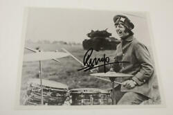 Ringo Starr Signed Autograph 8x10 Photo -the Beatles Drummer And His All Star Band