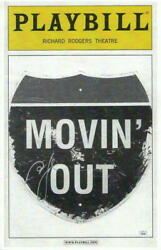 Billy Joel Signed Autograph 11x17 Moving Out Broadway Playbill Window Card Rare