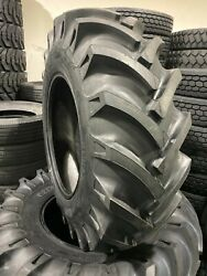2-tires 16.9-28 Knk-50 14 Ply Rear Tractor Tires 16.9x28 Backhoe No Tubes