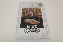 Luke Combs Signed Autograph Promo Photo - Country Superstar Beckett Encapsulated