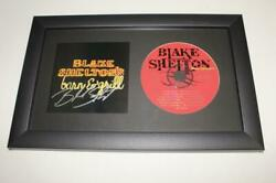 Blake Shelton Signed Autograph Barn And Grill Framed Cd Display - Country Star