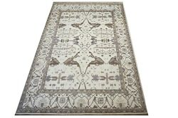12x18 Ivory Oushak Hand-knotted Wool Area Rug Oriental Carpet 12'2 X 17'10