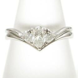 Jewelry Platinum 900 Ring 13 Size Diamond 0.70 Vs2 About5.4g Free Shipping Used