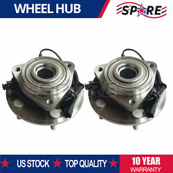 For Jeep Wrangler 2007 2008-2016 Pair 2 Front Wheel Bearing Hub Assembly W/abs