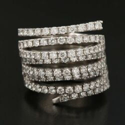 14k 3.00 Ctw Diamond Articulated Spiral Ring