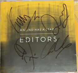 Editors Cd An End Has A Start Fully Signed Autogramm Signiert