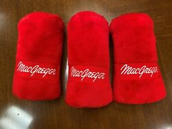 New 1 3 amp; 5 Red Barrel Plush MacGregor Headcovers for Vintage Persimmon Woods $45.00