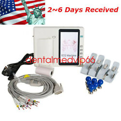 Ce Fda Portable Ecg Monitor With Touch Screen Digital Lcd Display 7 Inch Graphic