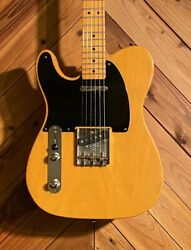 Used 2004 Fender American Vintage And03952 Telecaster Butterscotch Blonde Lefty