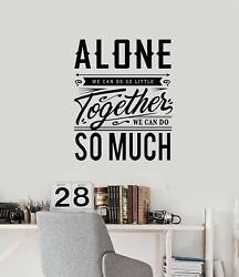 Vinyl Wall Decal Inspirational Quote Room Home Together Stickers Mural G4221