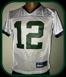 Green Bay Packers Aaron Rodgers Reebok On Field Super Bowl 45 Jersey Youth 10-12