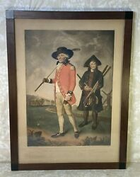 To The Society Of Golfers At Blackheath Mezzatint Antique Engraving On Paper
