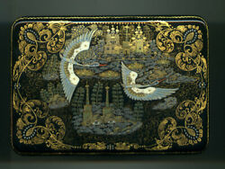 Russian Lacquer Box Kholui. Russian North. Hand Painted.