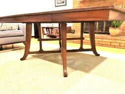 Antique Rare French Art Nouveau Walnut Dinning Table With 2 Extensions