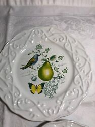 Mikasa Antique Countryside Pear Salad Appetizer Plate 9605321