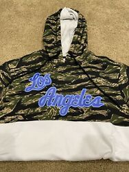 Los Angeles Lakers Mitchell And Ness Camo Hoodie, Lebron James, Medium