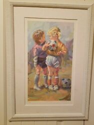 Lucelle Raad Sweet Talk / Tips Serigraph On Paper. Framed. Signed With Coa