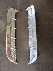 65 66 Mustang Chrome Side Body Trim Louvers Vents Oem Pair