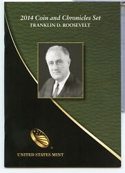 2014 Franklin D. Roosevelt Fdr United States Mint Coin And Chronicles Set Rx938
