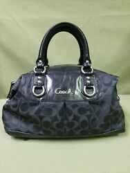 Coach F15443 Ashley Signature Black Satchel Handbag $17.99
